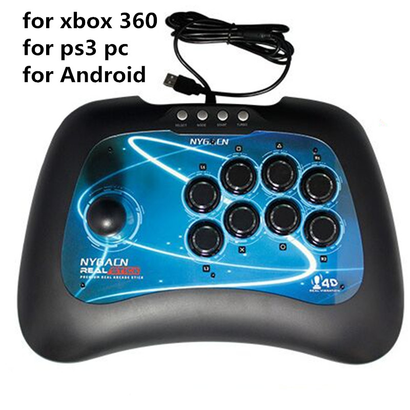 USB Game Joystick for PC xbox 360 PS3/PlayStation 3 Android wired game controller Light button shock gaming consol For WIN7 8 10 totolink a850r 1200mbps двухдиапазонный беспроводной маршрутизатор gigabit router
