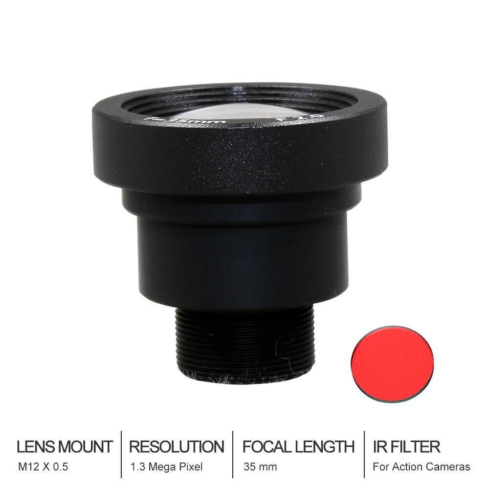 Witrue 1.3Megapixel 35mm Lens with IR filter M12 Mount Aperture F2.0 for Action Camera witrue 1 3megapixel 25mm cctv lens m12 mount aperture f2 0 for security cctv camera