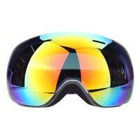 Novo Design Sem Moldura Óculos De Esqui de Neve Óculos de Proteção UV-Multi-Cor da Lente Anti-fog de Esqui Snowboard Óculos de Proteção com saco livre