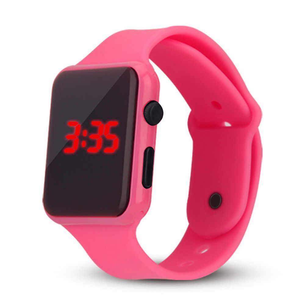 Kadın erkek saatler LED öğrenci çift elektronik saat ayarı ile izle Reloj deportivo caliente Relgio esportivo quente C5