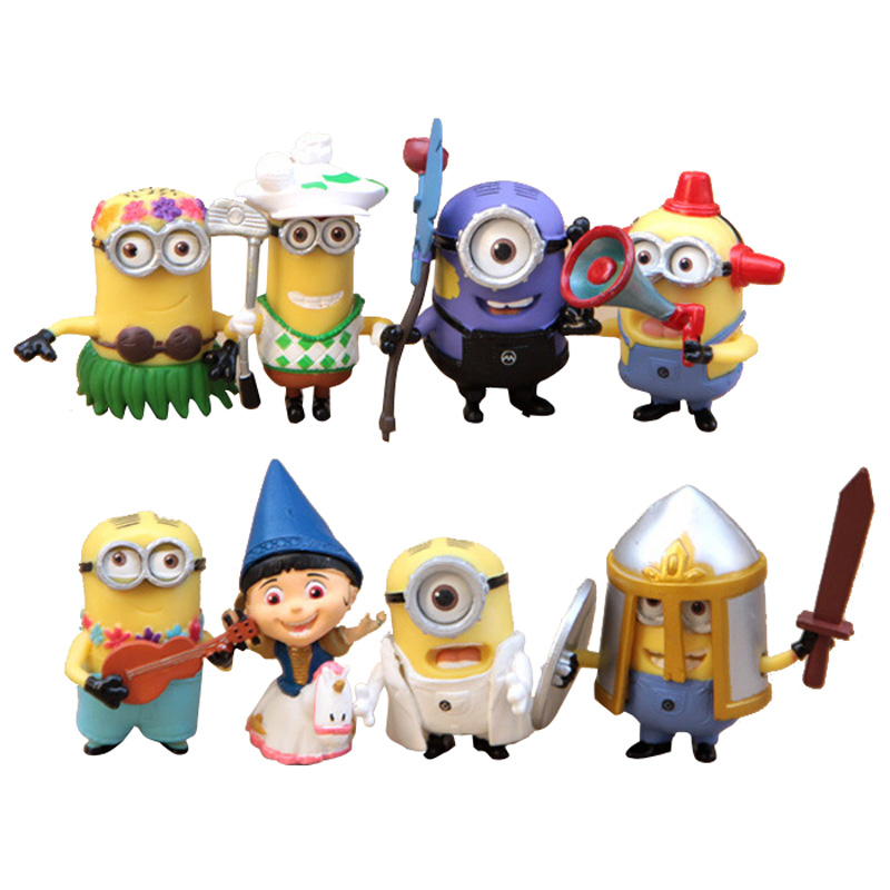 Newest Anime Dolls <font><b>Despicable</b></font> <font><b>Me</b></font> <font><b>2</b></font> <font><b>Minions</b></font> <font><b>Role</b></font> Figure Funny Children Toys PVC <font><b>Set</b></font> Movie fans Best Gift Brand Item SL