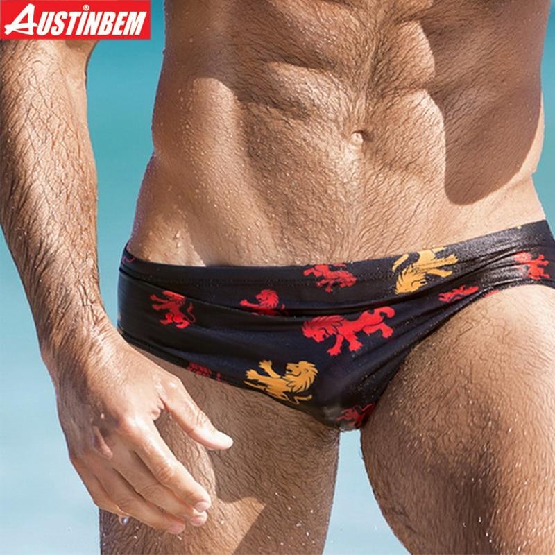 AUSTINBEM 2017 yeni 5 renk baskılı seksi mayo erkekler Şort yüzme maillot de bain Sandıklar erkek külot spor erkekler Mayo 277