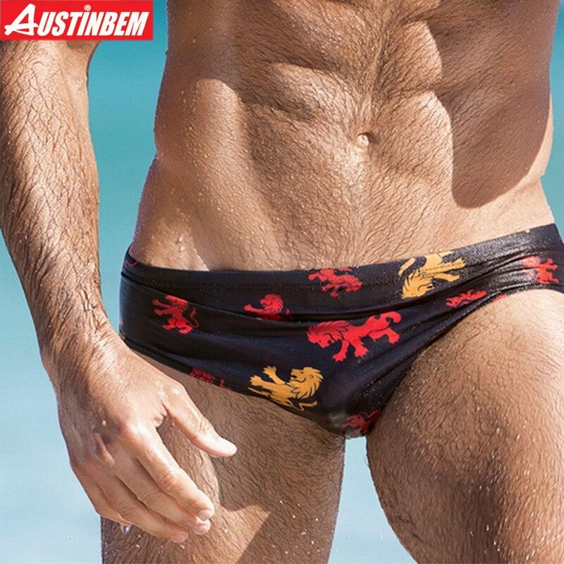 AUSTINBEM 2017 նոր 5 գունավոր տպագիր սեքսուալ լողազգեստ տղամարդիկ Շորտեր լող maillot de bain Տաբատ տղամարդկանց բաճկոններ սպորտ տղամարդիկ Լողազգեստ 277