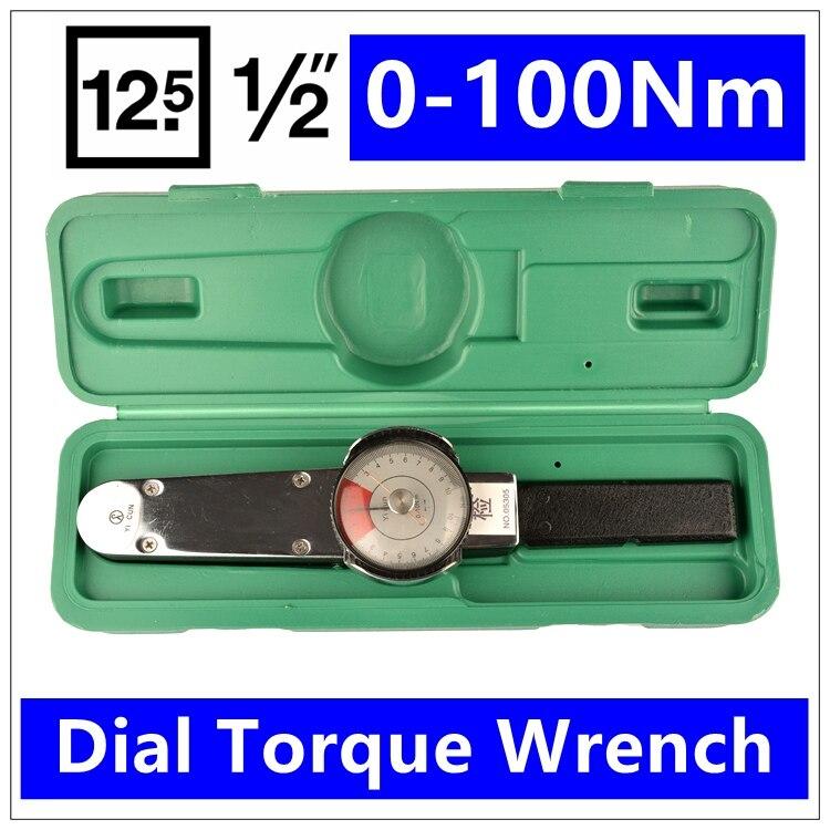 MXITA 1/2 0 100Nm Dial torque spanner High precision pointer hand tools torque wrench