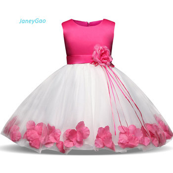 JaneyGao 2019 New Flower Girl Dresses For Wedding Party Formal Gown Kids Wear White Pink First Communion Princess Pageant Dress girl s formal dress 2018 flower wedding dresses kids gauze birthday evening party ball gown children s princess dress pink 2 13y