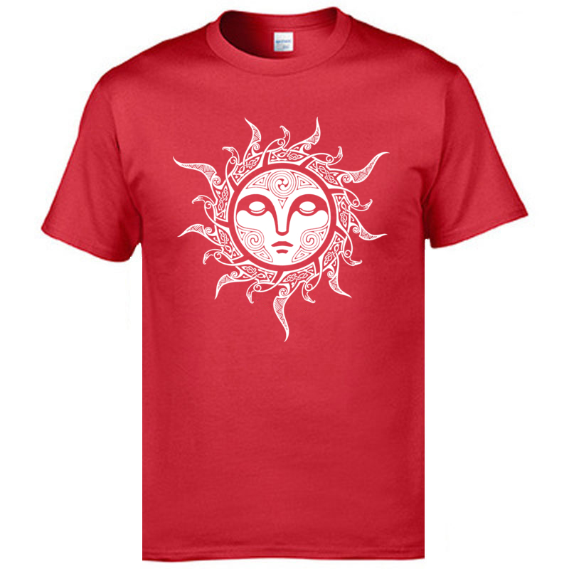 YULE. MIDWINTER SUN O Neck T Shirts ostern Day Tops Tees Short Sleeve Fashion All Cotton Casual Tops & Tees Comics Mens YULE. MIDWINTER SUN red