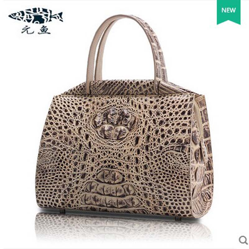 yuanyu 2018 new hot free shipping  imported Thailand crocodile handbag shoulder bags large capacity ladies handbags yuanyu 2018 new hot free shipping crocodile women handbag wrist bag big vintga high end single shoulder bags luxury women bag