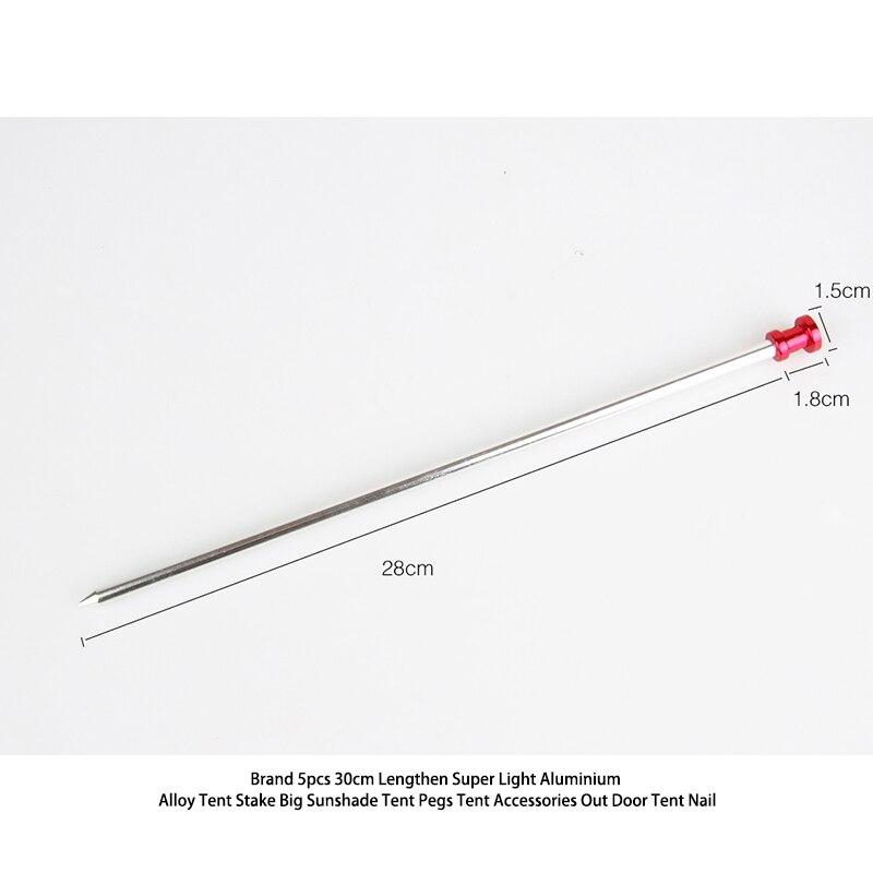Brand Lengthen Super Light Aluminium Alloy <font><b>Tent</b></font> Stake Big Sunshade <font><b>Tent</b></font> Pegs <font><b>Tent</b></font> Accessories Out Door <font><b>Tent</b></font> Nail 5pcs 30cm