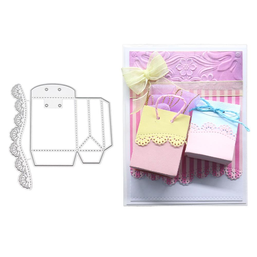 Plata Caja de regalo de caramelos de metal troqueles de corte DIY Scrapbooking tarjetas de papel en relieve /álbum artesan/ías