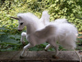 new simulation unicorn toy polyethylene & furs white Pegasus doll gift about 23x14x20CM 267