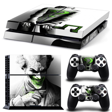 Decal Skin Sticker For Sony Playstation 4 PS4 Console With Controllers Protector Joker Cover PS 4 Skins