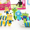 Cute Cartoon Winder Cable Protector Organiser Management Marker Holder Double side Data Line Cord Covers For USB Charging Cable