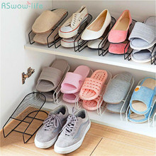 Lron Double Shoe Rack Simple Integrated Creative Home Storage Household Items