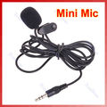 New Arrival for 3pcs/lot 3.5mm Hands Free Clip On Mini Lapel Mic Microphone For PC Notebook Laptop Black