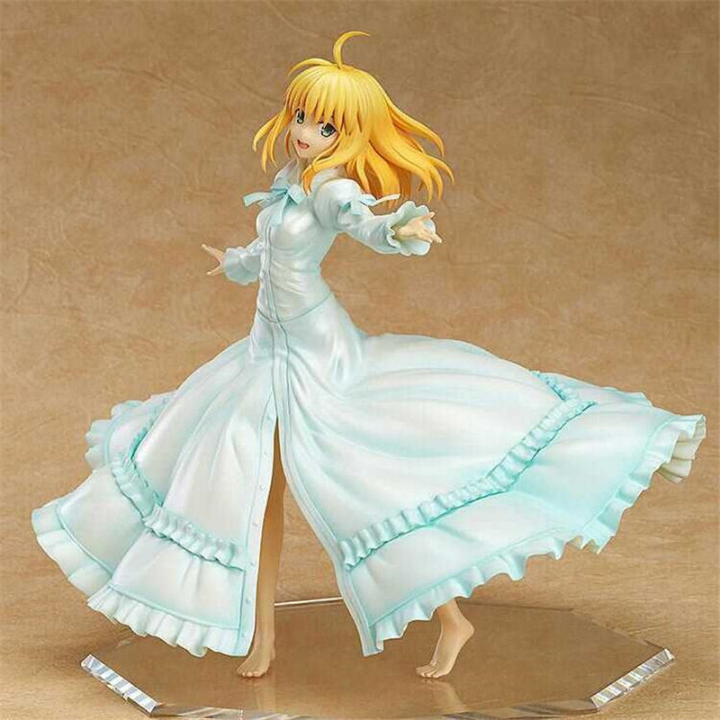 ФОТО Fate Stay Night 5 Edition Saber Action Figure 1/7 scale painted figure Last Episode Saber PVC ACGN figure Brinquedos Anime Z243