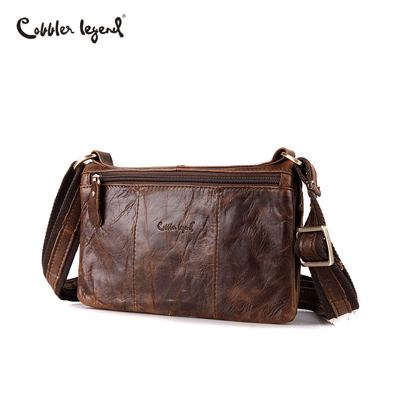 Cobbler Legend Simple Genuine Leather Man Crossbody Shoulder Bag Small Business Bags Coffee Men Bag Male Messenger Leather Bags cobbler legend 2015 messenger 100