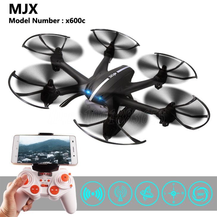 MJX X600C Remote Control Helicopter 0.3MP HD Camera 6 Axis Gyro Quadcopter 6 Channels USB Plug Brush Motor Headless Mode Dron радиоуправляемый инверторный квадрокоптер mjx x904 rtf 2 4g x904 mjx