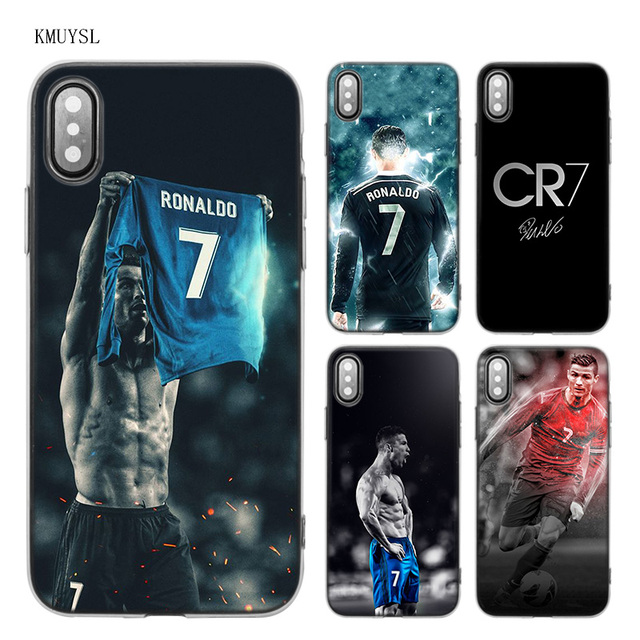 the best attitude 9083e bc746 US $1.97 34% OFF|KMUYSL Real Cristiano Ronaldo CR7 TPU Transparent Soft  Case Cover for iPhone X 7 8 6 6s Plus 5 5S SE 5C-in Fitted Cases from ...