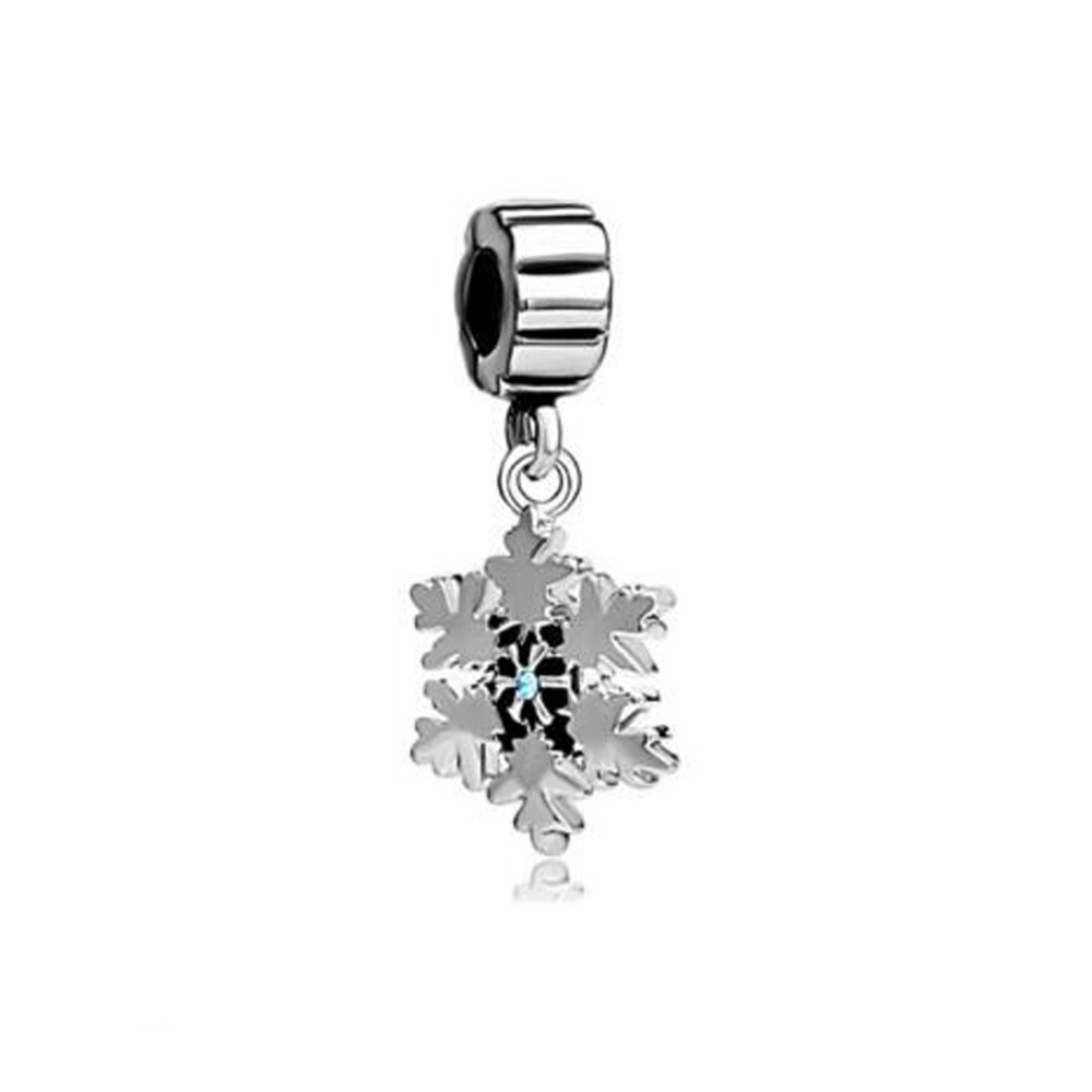 Slide Charm Wholesale Free Shipping Snowflake With Blue March Births Charm  Spacers Dangle Fit Pandora Bracelet