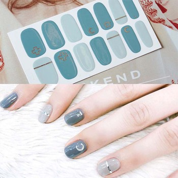 цена на Full Cover Nail Stickers Wraps DIY Nail Art Decals Plain Stickers Self Adhesive Nail Stickers for Women, Girls D04