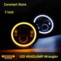 7 Inch Round Led Headlamp Headlight For Jeep Wrangler K LJ CJ Hummer 97 15 Halo