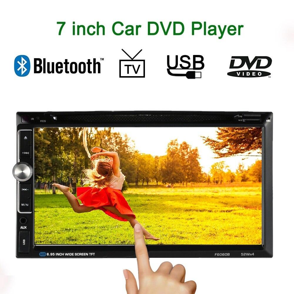 Универсальный 7-дюймовый Автомобильный Электронный Авторадио 2 DIN Автомобильный DVD плеер Bluetooth с USB/TF карты с FM-AUX вход для Volkswagen