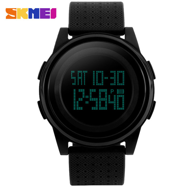 2016 SKMEI Original Brand Fashion Casual Watches Men Women rubber strap Thin Waterproof LED Digital Watch Students Sports Clock