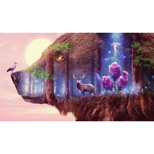 Full Square Drill 5D DIY Big bear deer birds forest moon diamond painting Cross Stitch 3D Embroidery Kits home decor H43 full square drill 5d diy seaside volcano moon diamond painting cross stitch 3d embroidery kits h118
