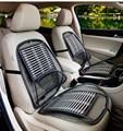 Verão almofada carro cintura coxim traseiro do assento de motorista de volta bambu rede de ventilação ligado