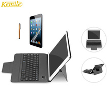 kemile Ultra Slim Bluetooth Keyboard with Stand Smart Lightweight Leather Case Cover tablet Keypad klavye For iPad air 1 &2(China)