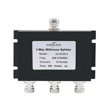2G 3G 4G 698 2700 MHz 3 WAY Micro Strip Power SPLITTER N ประเภท 3 Way Microstrip Power Divider สำหรับโทรศัพท์มือถือสัญญาณ Booster
