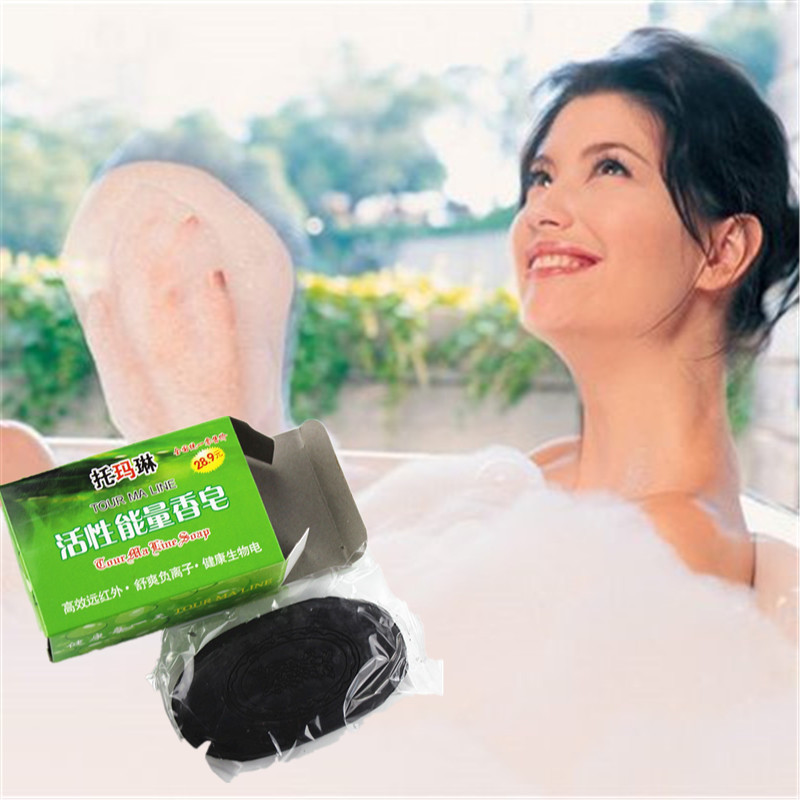 Revitalizing Repairing Beauty Bamboo Charcoal Facial Cleaning Soap For Face Care Whitening Skin 60g