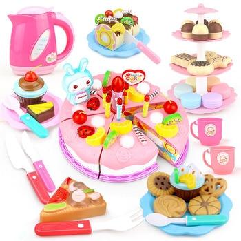37-103 Uds DIY juego De Cocina alimentos juguetes fruta cortar pastel De...