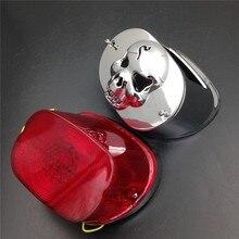 Aftermarket frete grátis peças da motocicleta led vermelho luz cauda colar capa para harley xl flstf touring modelos flhtc