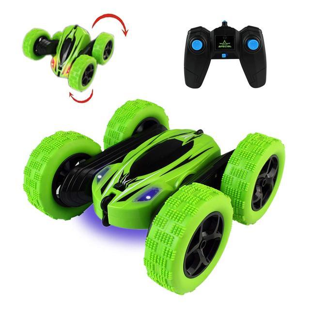 Dublör Rc araba, uzaktan kumanda araba, 360 derece çevirir çift taraflı döner yarış arabası, yüksek hızlı yanıp sönen uzaktan kumandalı