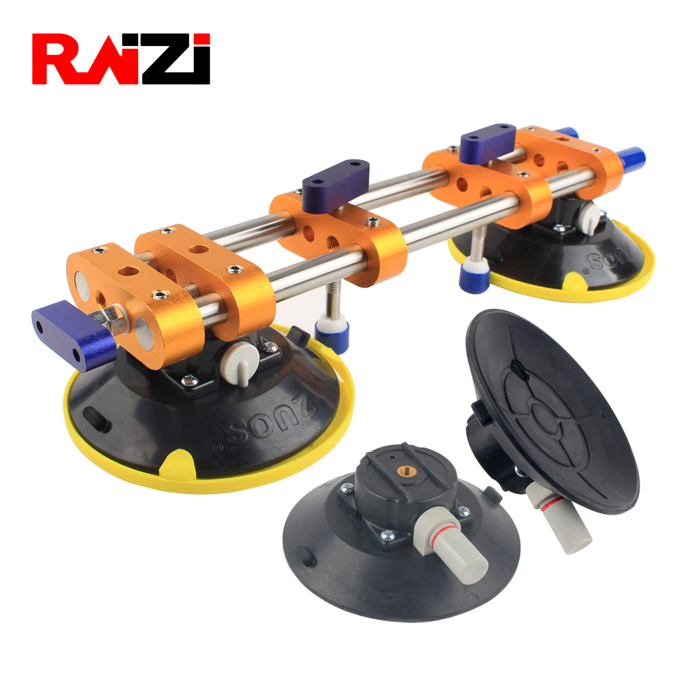 Raizi Stone Seam Setter With 2 Pcs 6 inch vacuum suction cups for Seamless Joining Leveling Stone Countertop Installation Tool title=