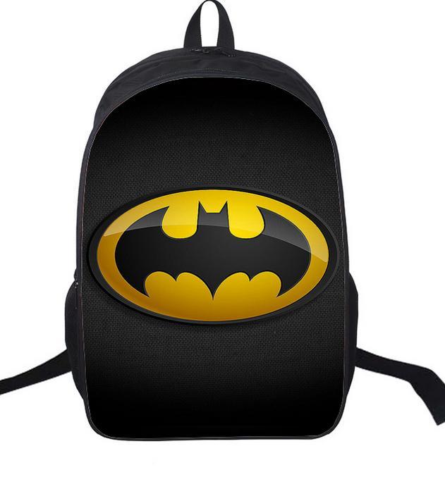 72082489339d2 16-inç Mochila Batman Çanta Için Okul Erkek Batman Sırt Çantası Serin  Çocuklar Okul gençler için çanta Çocuk Günlük Sırt Çantası