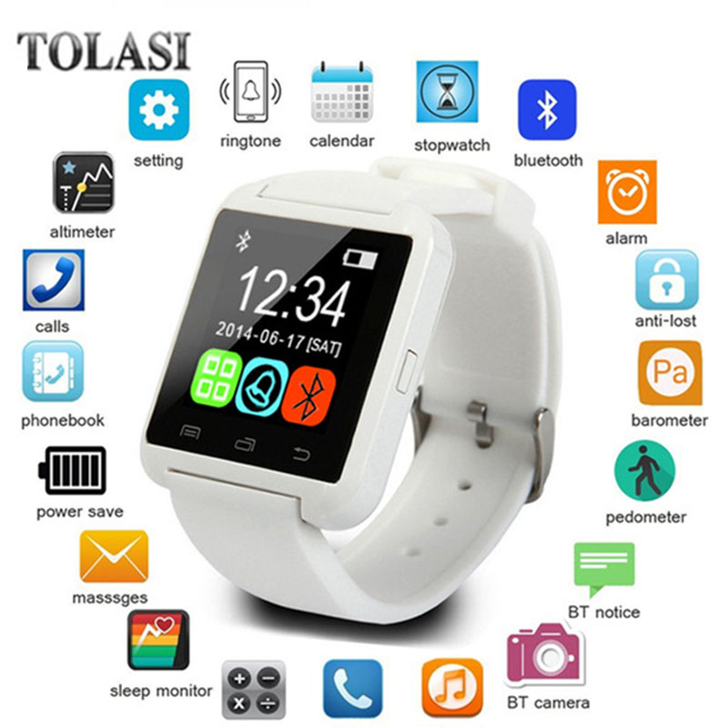 Smartwatch Bluetooth Smart Watch U8 WristWatch digital sport watches for IOS Android Samsung phone Wearable Electronic Device цена