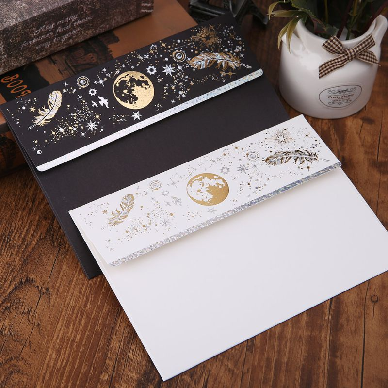 10pcs Creative Bronzing Feather Envelope For Wedding Invitation Cards Gifts Stationery Letter