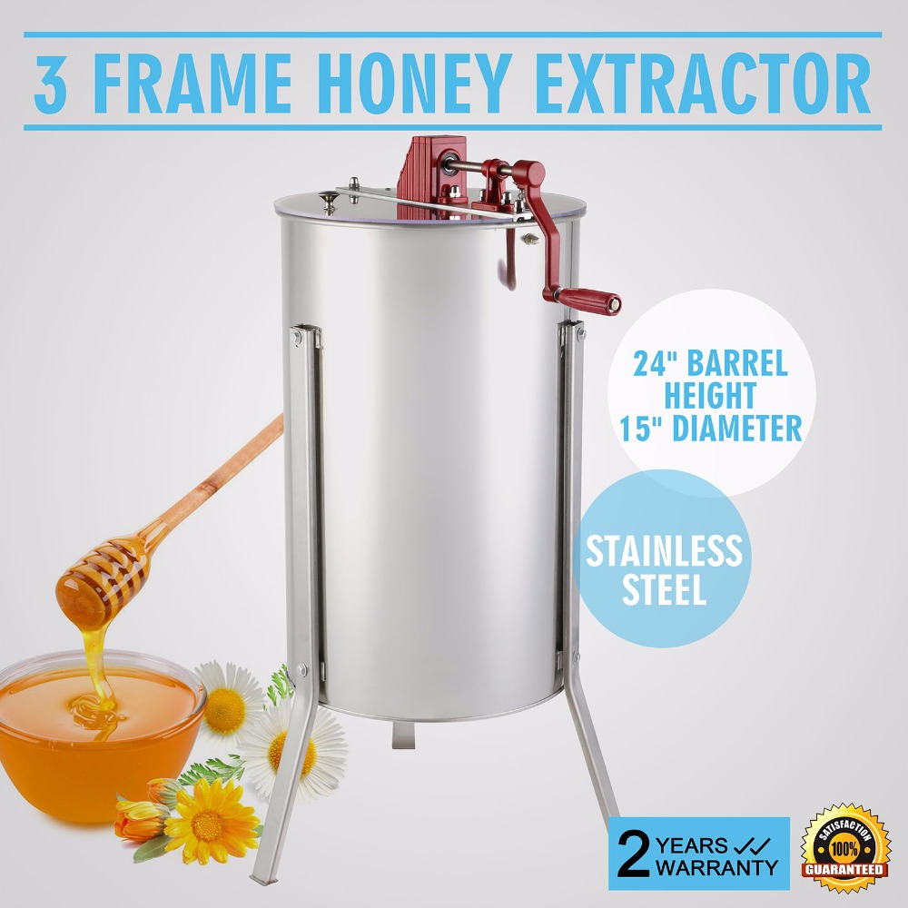 Honey Extractor Brand New Large 3 Frame Stainless Steel Manual Honey Extractor