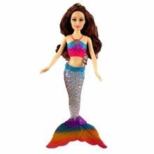 Niños de la manera Muñecas de sirena Juguetes Natación luminescente Sirena Muñeca Princesa Para Barbie Muñecas Bonecas Niñas Juguetes para regalo de cumpleaños