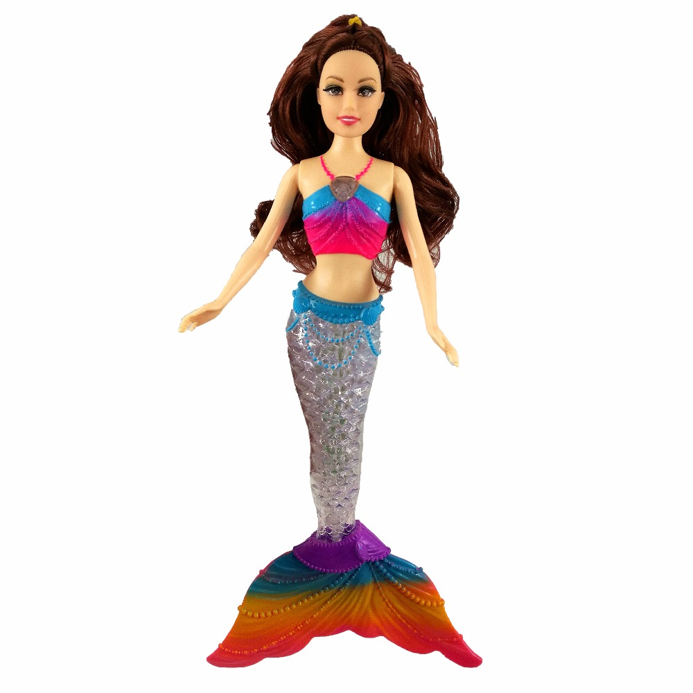 Fashion Kids Mermaid Dolls Toys Swimming Luminescent Mermaid Doll Princess For Barbie Dolls Bonecas Girls Toys For Birthday Gift