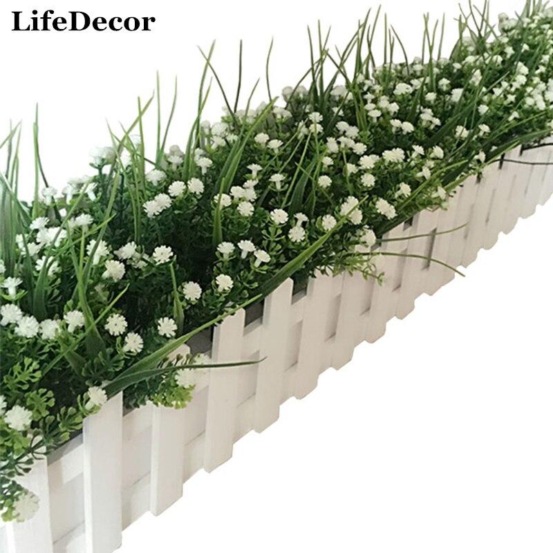 Fashion Home Office Desk Party Wedding Decoration 1 Bouquet 28cm Floral Artificial Plant ...