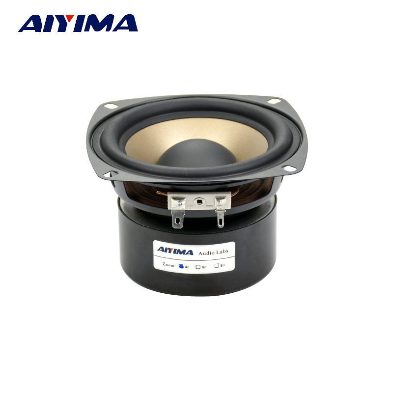 AIYIMA 1Pcs 4Inch Audio Portable Speaker 4Ohm 30W Hifi Woofer Midrange Speaker Subwoofer Dual Bass Speakers ghxamp 3 inch 4ohm 30w midrange speaker car speaker mid human voice sound good loudspeaker for lg diy 2pcs