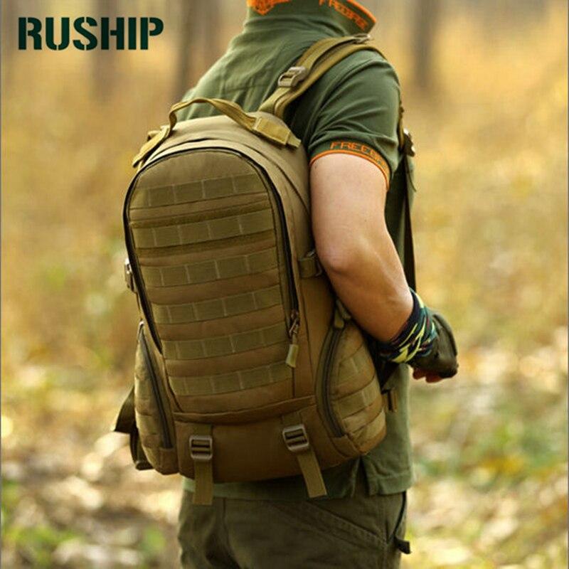 Sacs de Camping, sac à dos Molle imperméable militaire 3 P Gym école Trekking Ripstop boisé équipement tactique pour hommes 35L livraison directe