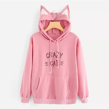 hoodies Fall 2018 hoody aesthetic sweatshirt for women Letter Print Casual  Hooded Pullover Top Blouse streetwear bd695cfa3