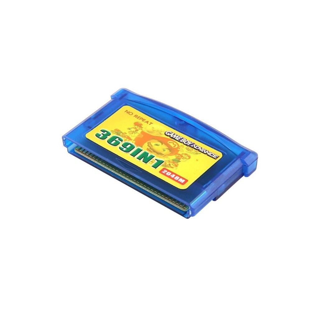 369 Em 1 Cartucho de Cartão de Jogo Cartão de Jogo de Vídeo Portátil Para Nintendo GBA