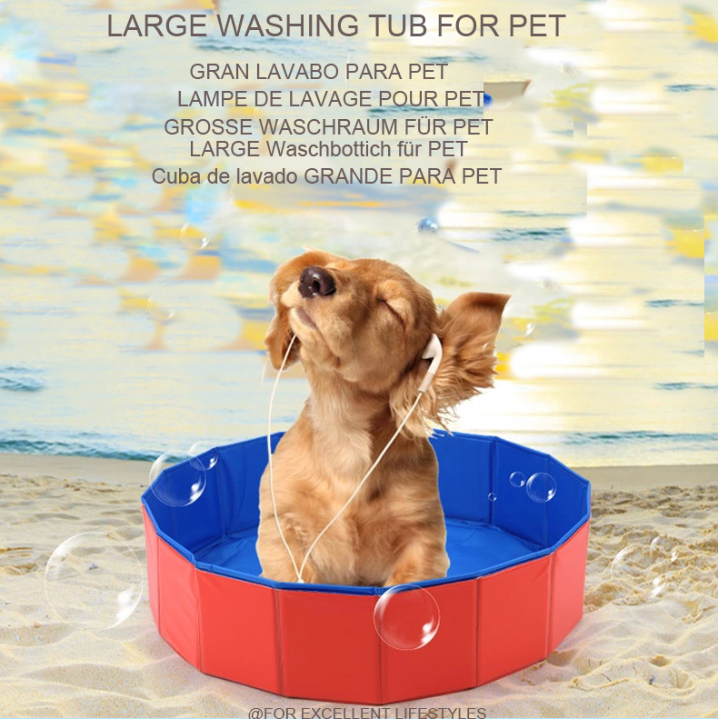 Foldable Pet Dog Cat Washing Shower Portable Swimming Pool Collapsible PVC  Bathtub Tube Wash Tool For Large Dog Cat Teddy Washer In Inflatable U0026  Portable ...