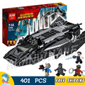 401pcs Super Heroes Black Panther Royal Talon Fighter Attack Nakia 07099 Model Building Blocks Toys Bricks Compatible With lego