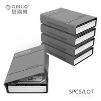 Big Promotion Gray Orico PHP 5S GY 3 5 Inch HDD Protection Box 5PCS LOT With